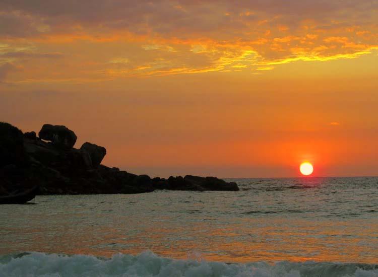 sun set at Kovalam Beach