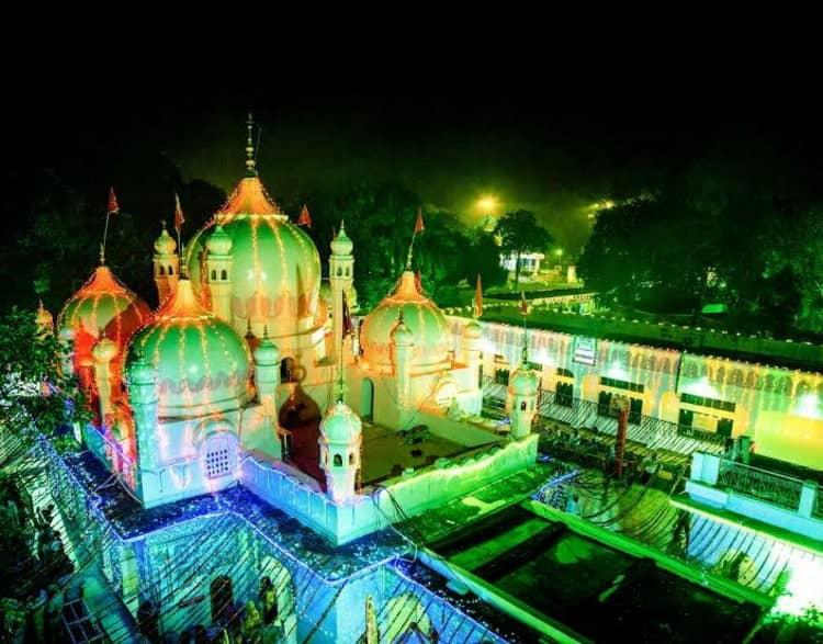Mansa Devi Temple at night