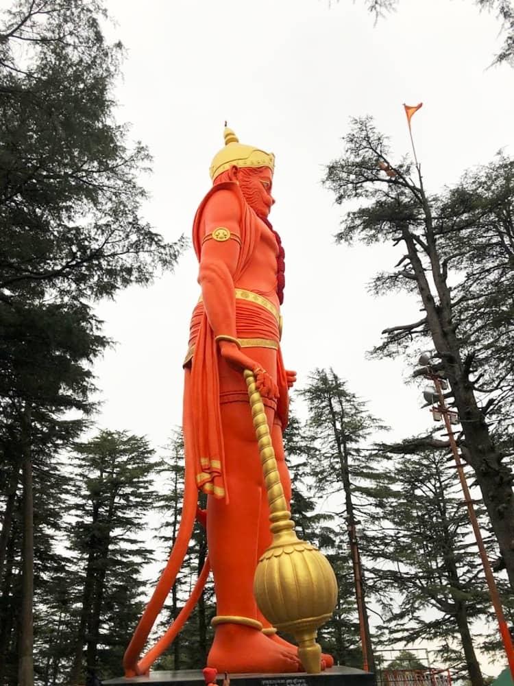 visit hanuman temple for blessing in Shimla