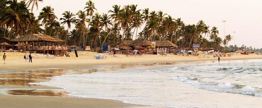 Colva beach in south goa