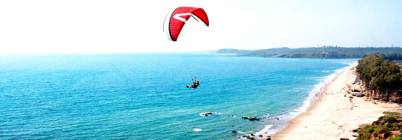 Arambol Beach Paragliding, Goa